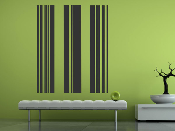 banner streifen wandtattoo wandbanner streifen bei. Black Bedroom Furniture Sets. Home Design Ideas