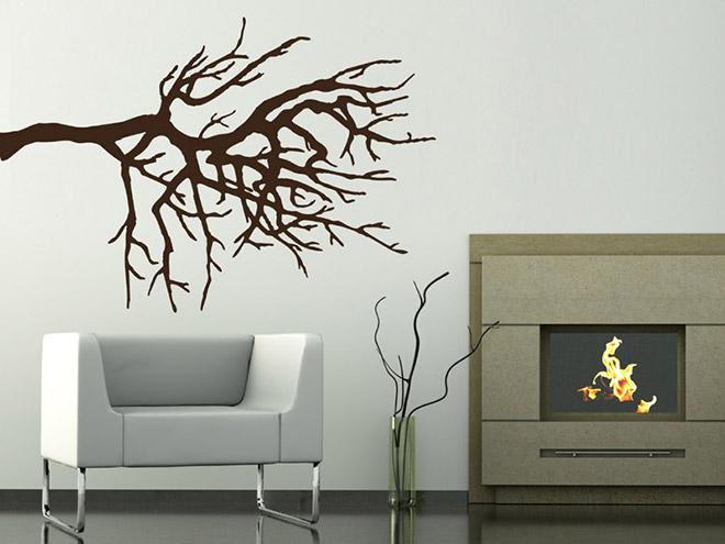 wandtattoo dekorativer ast silhouette. Black Bedroom Furniture Sets. Home Design Ideas