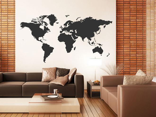 wandtattoo weltkarte wandtattoo weltkarten wandtattoos welt karte xxl kontinente atlas. Black Bedroom Furniture Sets. Home Design Ideas