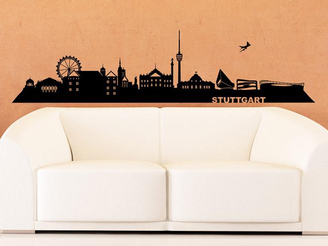 wandtattoo stuttgart skyline stuttgart wandtattoo. Black Bedroom Furniture Sets. Home Design Ideas