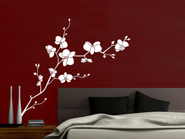 wandtattoo orchidee mit sch nen bl ten. Black Bedroom Furniture Sets. Home Design Ideas