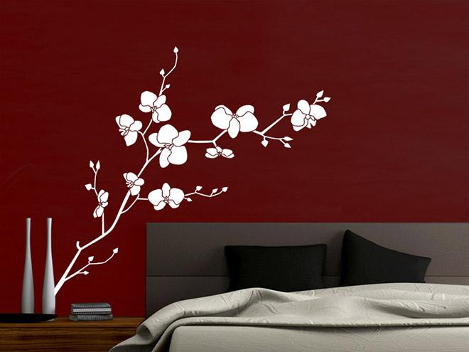 wandtattoo orchidee wandtattoo orchideen wandtattoos. Black Bedroom Furniture Sets. Home Design Ideas