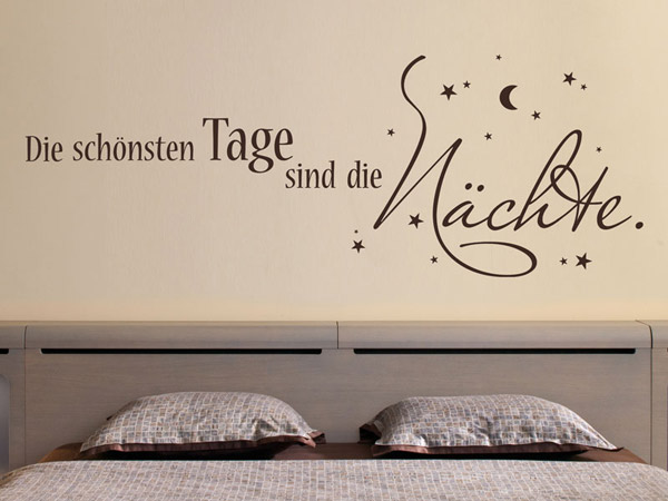 die sch nsten tage sind wandtattoo sch ne n chte spruch wandsticker von. Black Bedroom Furniture Sets. Home Design Ideas