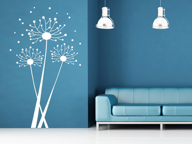abstrakte pusteblume wandtattoo pusteblume grafisch von. Black Bedroom Furniture Sets. Home Design Ideas