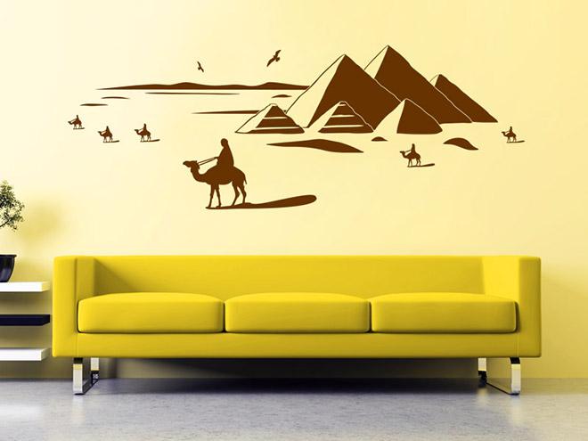 Wandtattoo gypten pyramiden landschaft - Wandtattoo orientalisch ...
