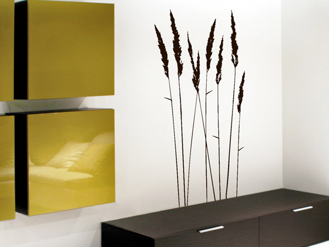 wandtattoo gr ser wandtattoo hohe deko gr ser wandtattoos grashalme. Black Bedroom Furniture Sets. Home Design Ideas