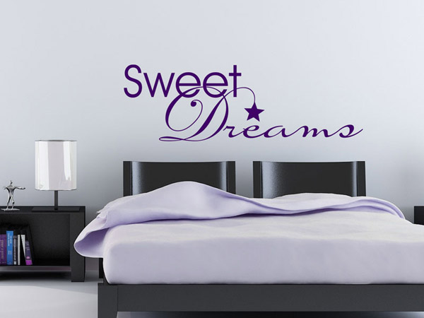 wandtattoo dreams sweet dreams. Black Bedroom Furniture Sets. Home Design Ideas