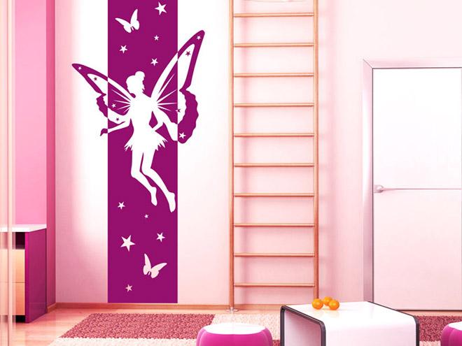 wandbanner elfe wandtattoo xxl mit sternen. Black Bedroom Furniture Sets. Home Design Ideas