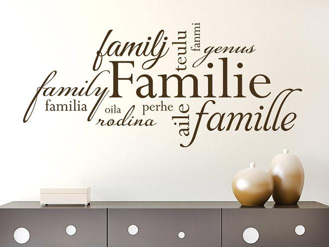 Wand-Tattoo Familie Sprachen bei Wand-Tattoos.de Familie Wandtattoo ...