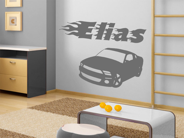 auto wandtattoo auto autos junge jungs bei. Black Bedroom Furniture Sets. Home Design Ideas