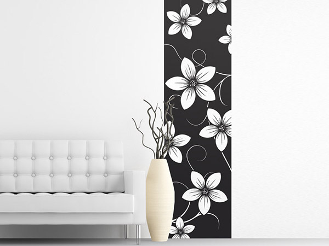 wandtattoo blumen wandbanner blumen wandtattoos bei. Black Bedroom Furniture Sets. Home Design Ideas