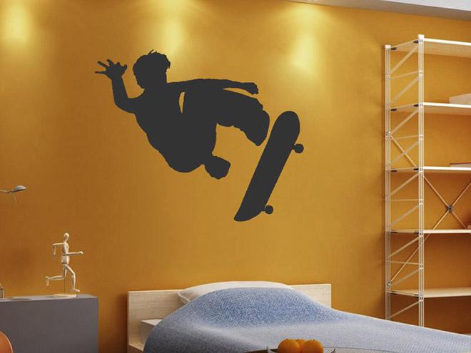 cooler skater wandtattoo skater sticker bei. Black Bedroom Furniture Sets. Home Design Ideas