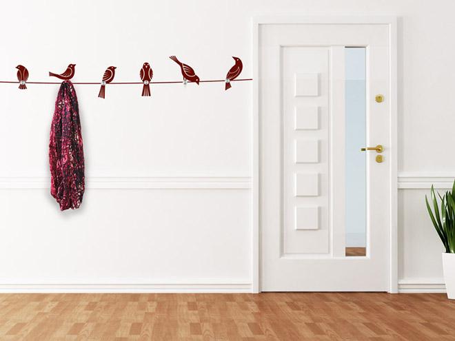 wandtattoo garderobe v gel mit wandhaken. Black Bedroom Furniture Sets. Home Design Ideas
