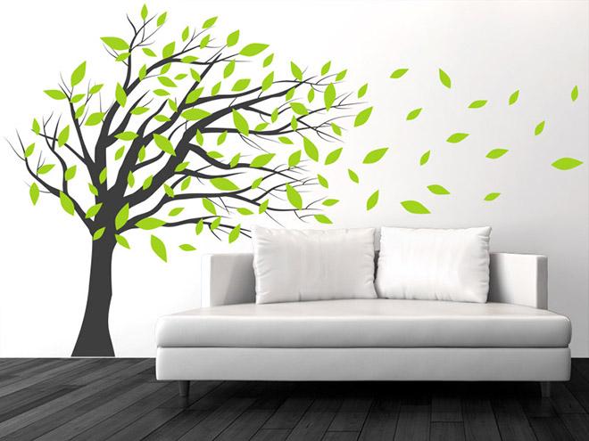 wandtattoo wehender baum im wind. Black Bedroom Furniture Sets. Home Design Ideas