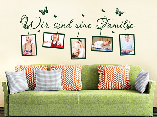 wandtattoo fotorahmen familie mit familienspruch. Black Bedroom Furniture Sets. Home Design Ideas