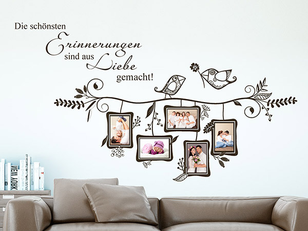 wandtattoo fotorahmen sch ne erinnerungen. Black Bedroom Furniture Sets. Home Design Ideas