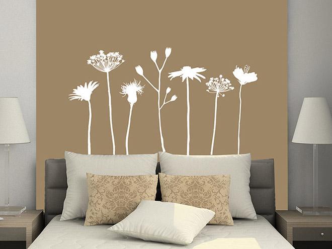 wandtattoo verspielte wiesen blumen. Black Bedroom Furniture Sets. Home Design Ideas