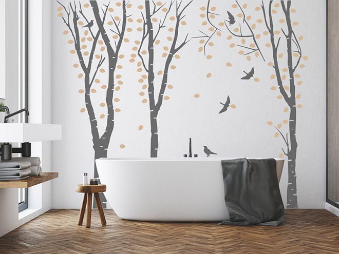 wandtattoo birkenwald bei. Black Bedroom Furniture Sets. Home Design Ideas