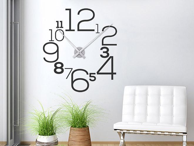 wandtattoo uhr mit zahlen wanduhr. Black Bedroom Furniture Sets. Home Design Ideas