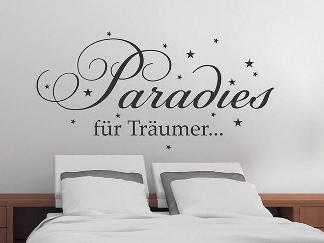 wandtattoo paradies f r tr umer. Black Bedroom Furniture Sets. Home Design Ideas