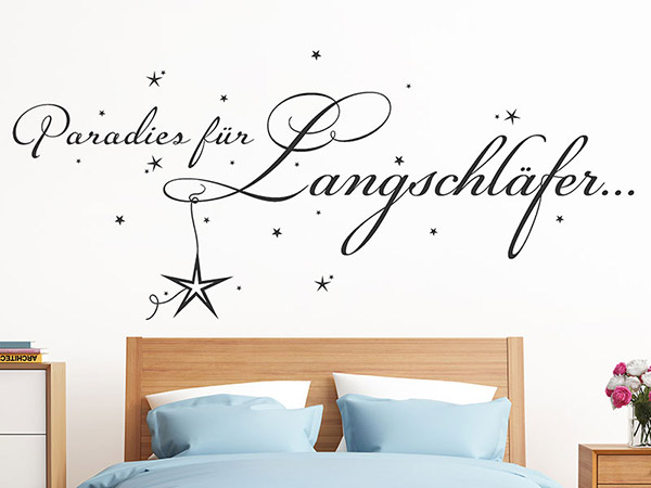 wandtattoo paradies f r langschl fer schriftzug. Black Bedroom Furniture Sets. Home Design Ideas