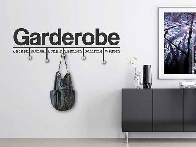 Wandtattoo moderne garderobe von - Moderne wandtattoos ...