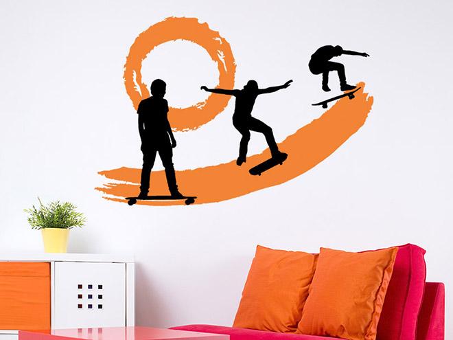 wandtattoo skater park bei. Black Bedroom Furniture Sets. Home Design Ideas