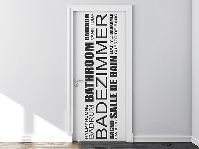 Wandtattoo Badezimmer in vielen Sprachen - Wandtattoos.de