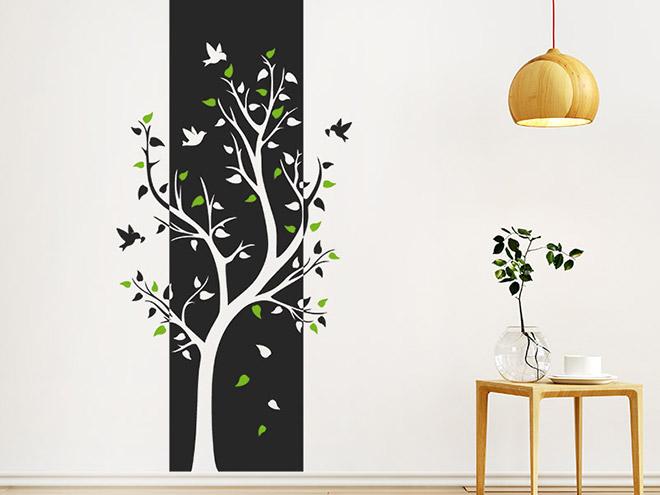 wandbanner baum wandtattoo xxl raumhoch. Black Bedroom Furniture Sets. Home Design Ideas