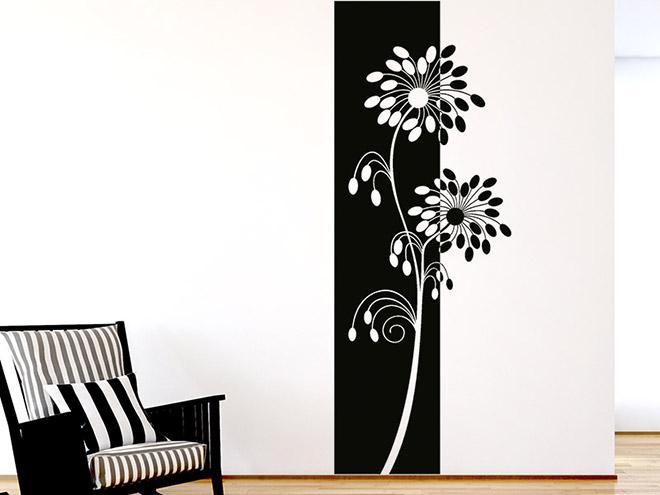 wandbanner moderne bl ten wandtattoo xxl raumhoch. Black Bedroom Furniture Sets. Home Design Ideas
