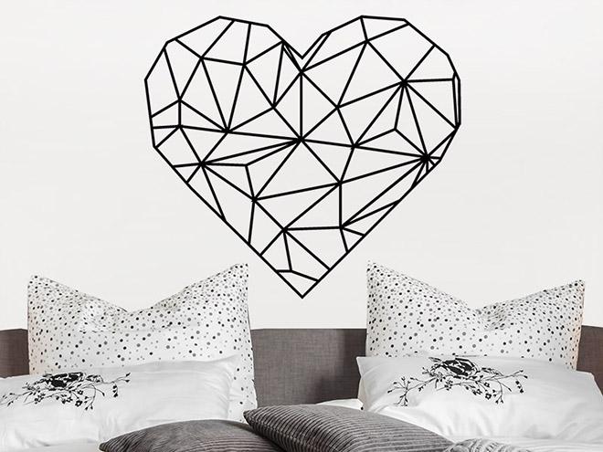 wandtattoo origami herz. Black Bedroom Furniture Sets. Home Design Ideas