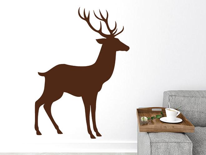 wandtattoo deko hirsch. Black Bedroom Furniture Sets. Home Design Ideas