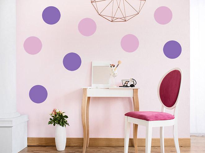 wandtattoo kreative punkte set. Black Bedroom Furniture Sets. Home Design Ideas