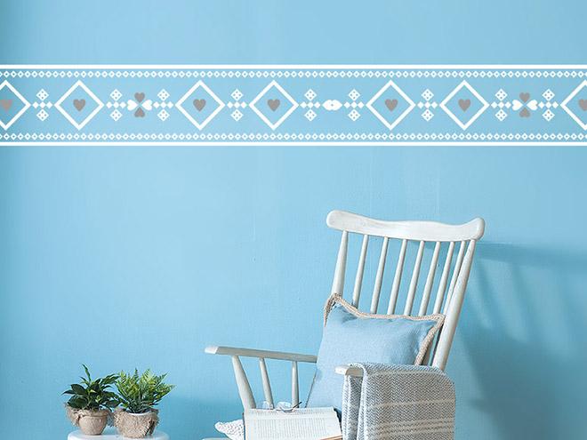 wandtattoo bord re ethno muster. Black Bedroom Furniture Sets. Home Design Ideas