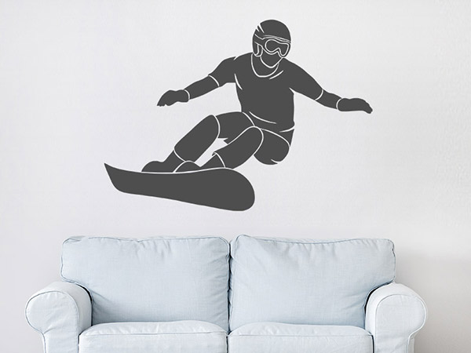 wandtattoo snowboard. Black Bedroom Furniture Sets. Home Design Ideas