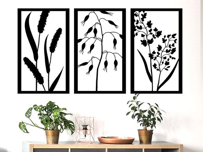 wandbanner gr ser dreiteilig wandtattoo. Black Bedroom Furniture Sets. Home Design Ideas