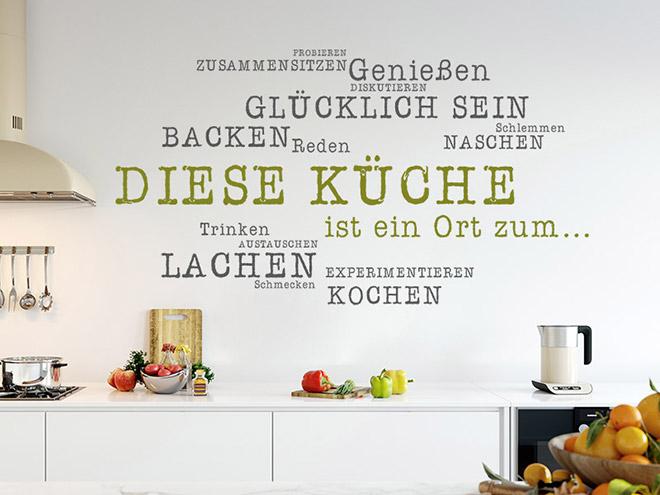 wandtattoo diese küche ist ein ort zum... - wandtattoos.de - Wandtatoos Für Die Küche