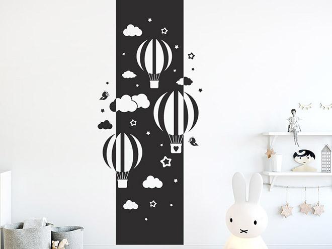 wandbanner hei luftballons mit wolken xxl. Black Bedroom Furniture Sets. Home Design Ideas