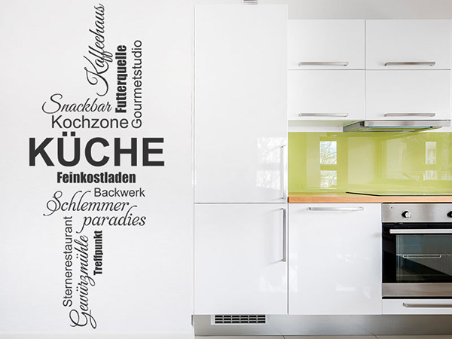 Wandtattoo Küchen Worte als Wortwolke Wandtattoos