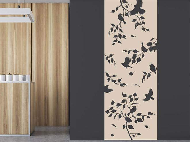 wandbanner ste wandtattoo xxl raumhoch. Black Bedroom Furniture Sets. Home Design Ideas