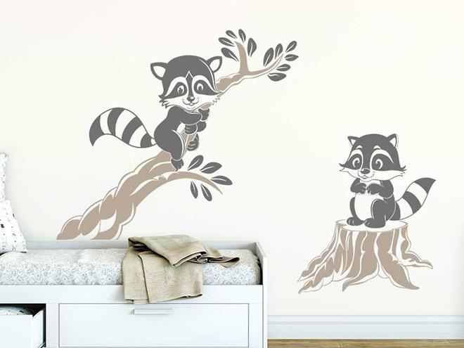 wandtattoo putzige waschb ren f r kinderzimmer. Black Bedroom Furniture Sets. Home Design Ideas