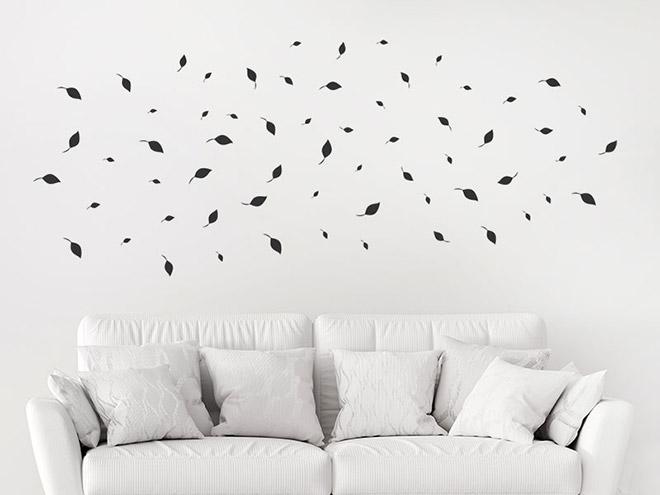 wandtattoo bl tter zusatzset gro er baum im wind. Black Bedroom Furniture Sets. Home Design Ideas