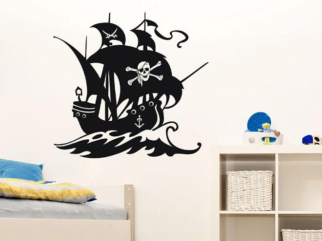 Piratenschiff wandtattoo wandtattoo piraten schiff for Wandtattoo piratenschiff