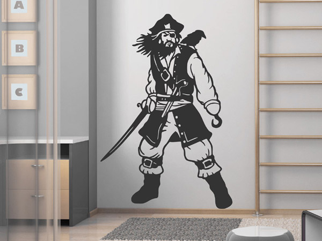 pirat wand tattoo pirat piraten abenteuer bei wand tattoos. Black Bedroom Furniture Sets. Home Design Ideas