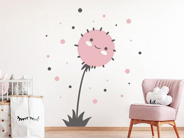 wandtattoo putzige pusteblume f rs babyzimmer. Black Bedroom Furniture Sets. Home Design Ideas