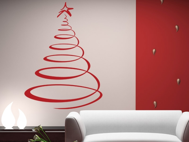 moderner weihnachtsbaum wandtattoo baum bei. Black Bedroom Furniture Sets. Home Design Ideas