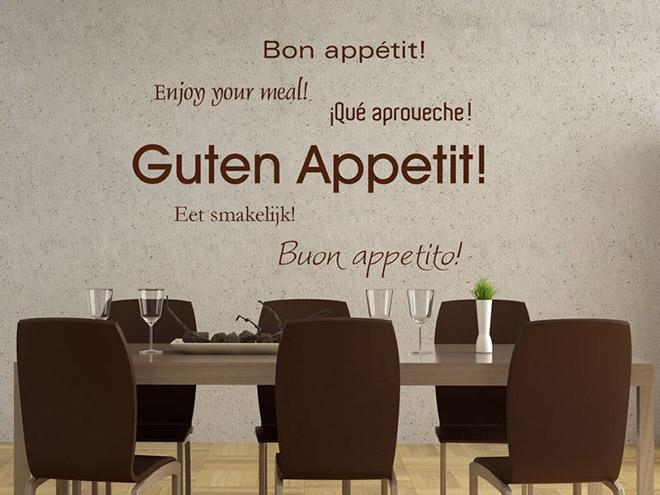 Superb Wandtattoo Guten Appetit
