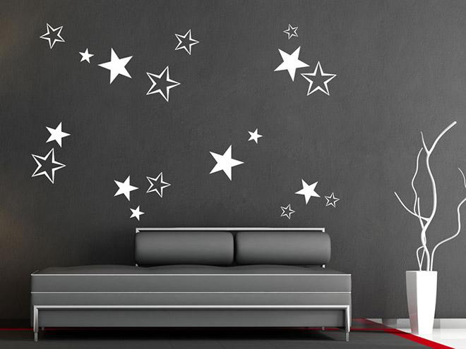 Wandtattoo Kinderzimmer Sterne - Wohndesign Ideen