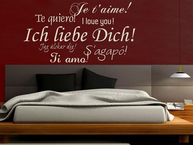Ich liebe dich wandtattoo ich liebe dich bei for Schlafzimmer italienisch