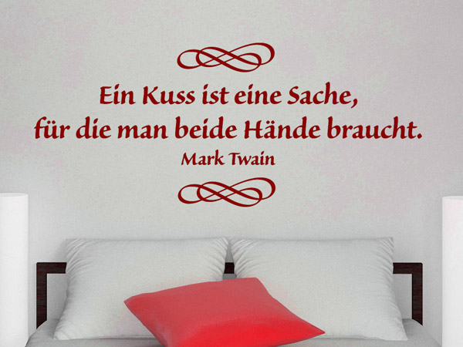 Wandworte Zitat Ein Kuss Wandtattoo bei Wandtattoos.de